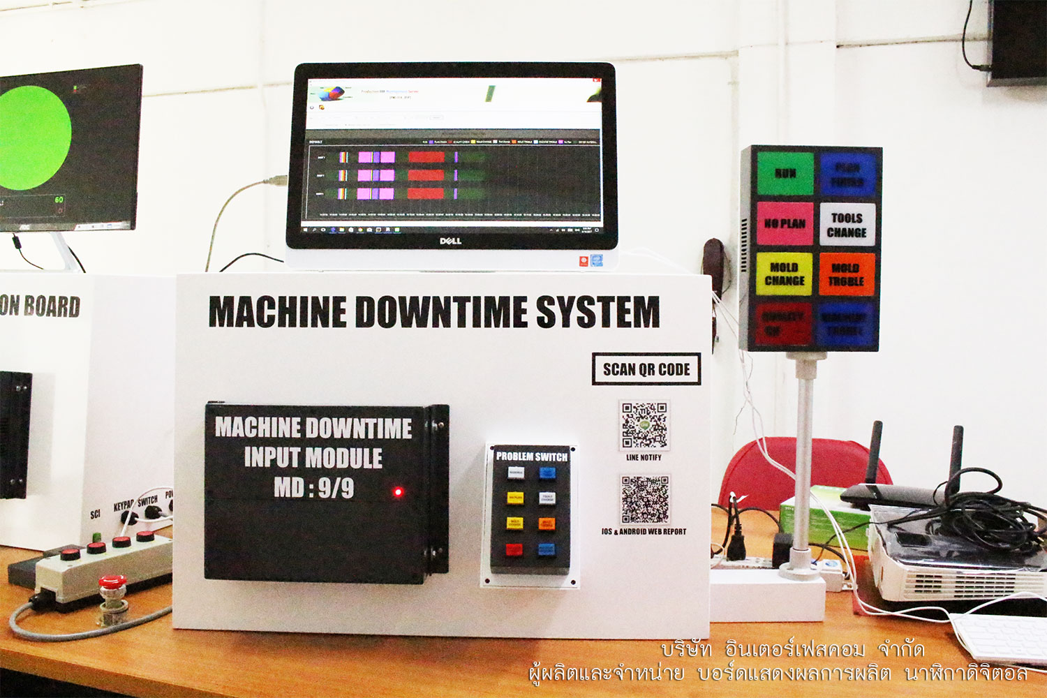 machine downtime system board